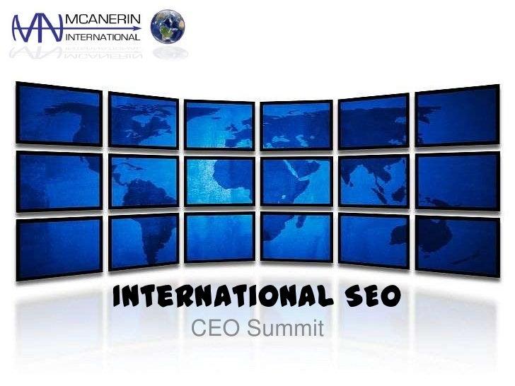 International SEO<br />CEO Summit<br />