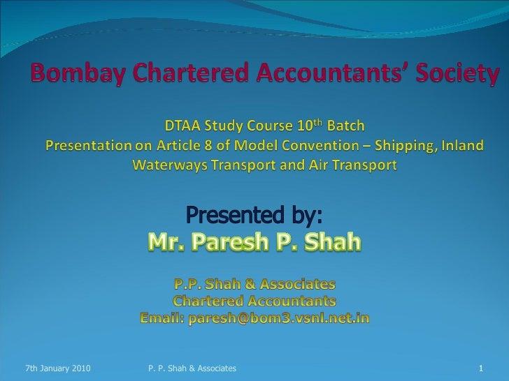 International shipping bcas dtaa course 070110