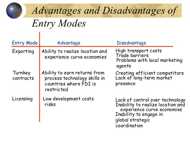 an analysis of advantages and disadvantages of globalization in management