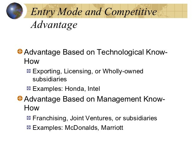 entry mode licensing and franchising of apple