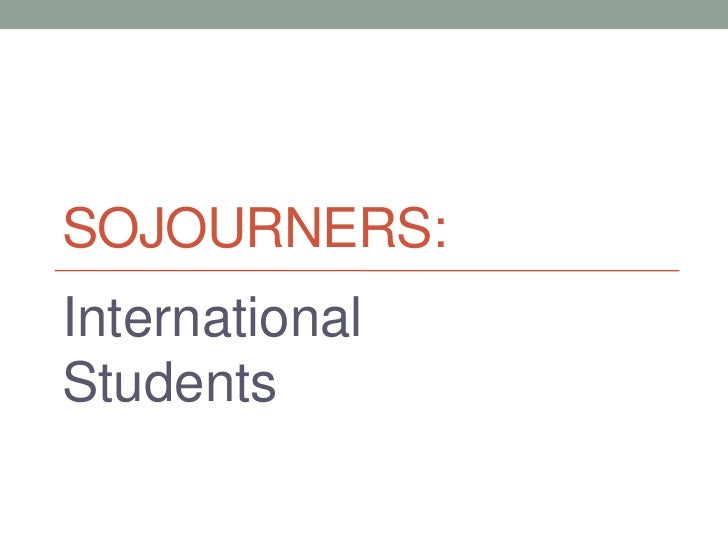 International Students (lecture notes)