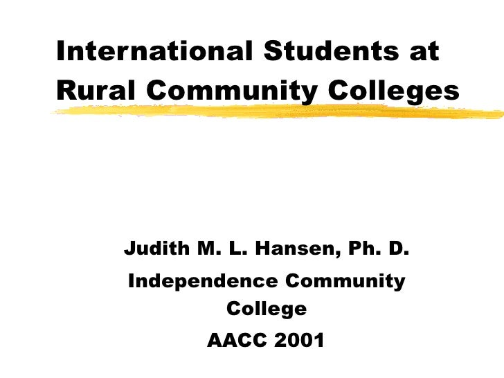 International Students at Community Colleges