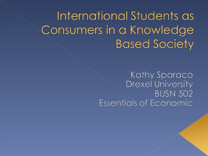 International students as consumers in a knowledge based