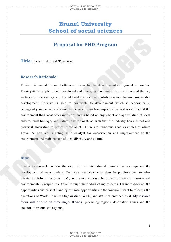 thesis tourism marketing A framework for tourism destination marketing in network destination structures david friedrich ermen a thesis submitted for the degree of doctor of philosophy.