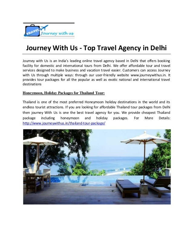 Journey With Us - Top Travel Agency in Delhi Journey with Us is an India's leading online travel agency based in Delhi tha...