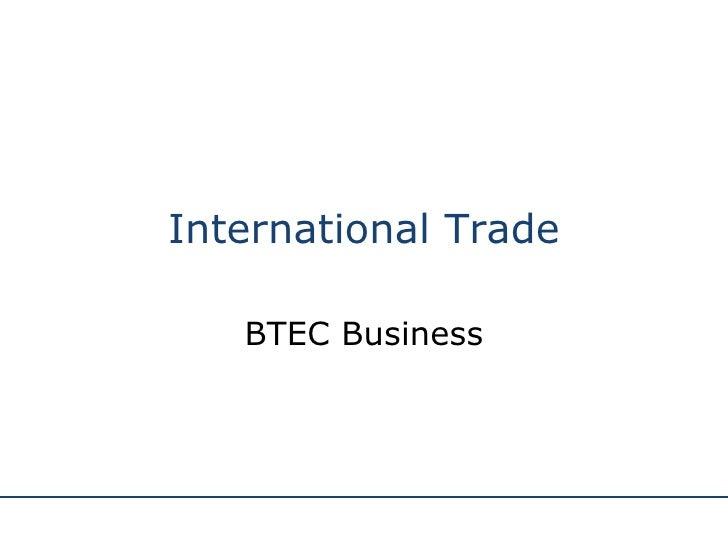 International Trade BTEC Business