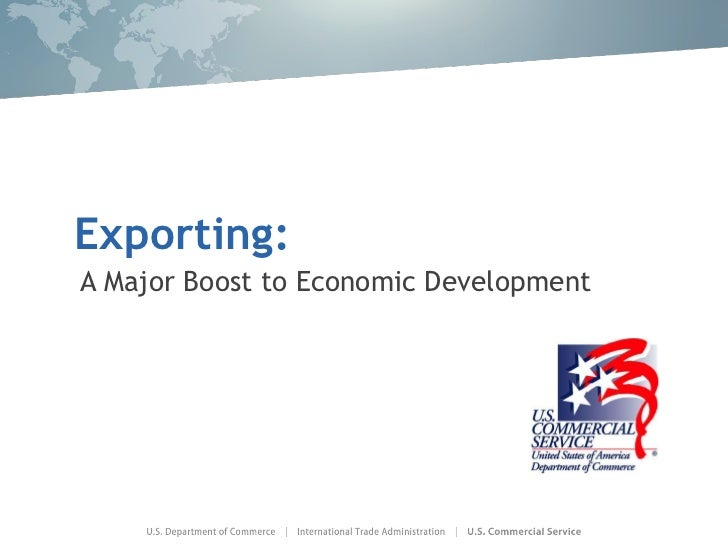 Exporting:  A Major Boost to Economic Development