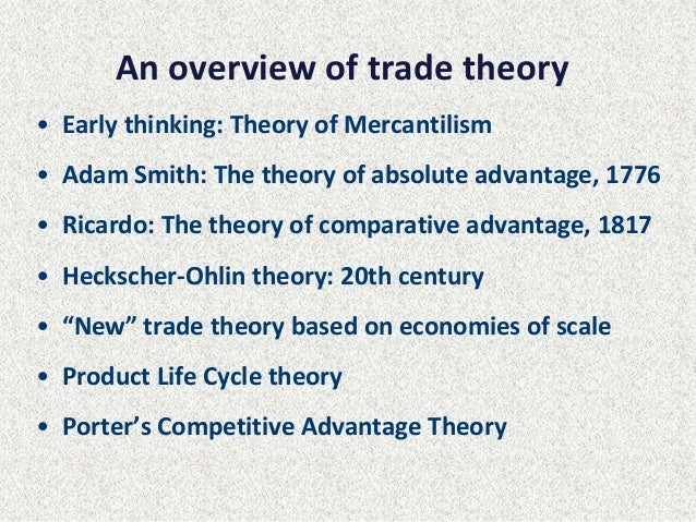 explain the concept of comparative advantage and the principle theories of why trade occurs The principle of comparative advantage implies that with specialization and free trade, a nation enjoys production gains and consumption gains a nation's trade triangle denotes its exports, imports, and terms of trade.