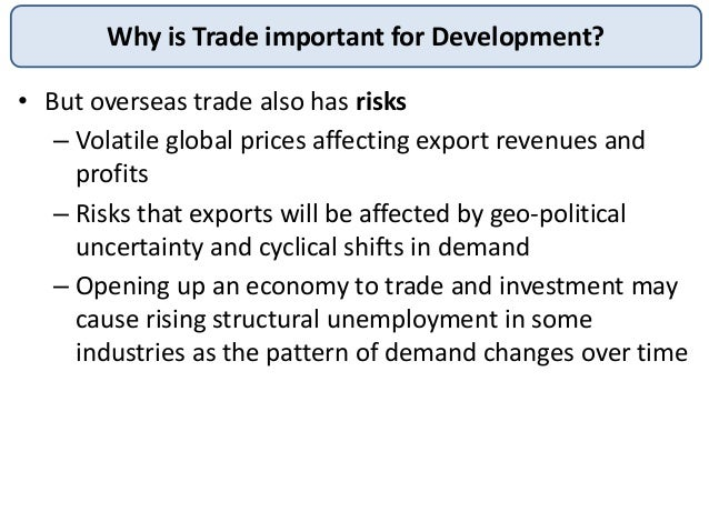 why is international trade important for Volatility often have important repercussions on international trade, the balance of   international trade by analysing the impact that exchange rate volatility and.
