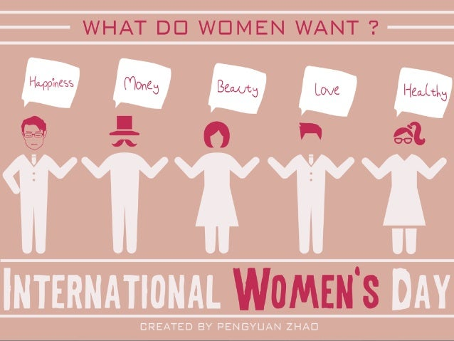 What do women want? - International women's day