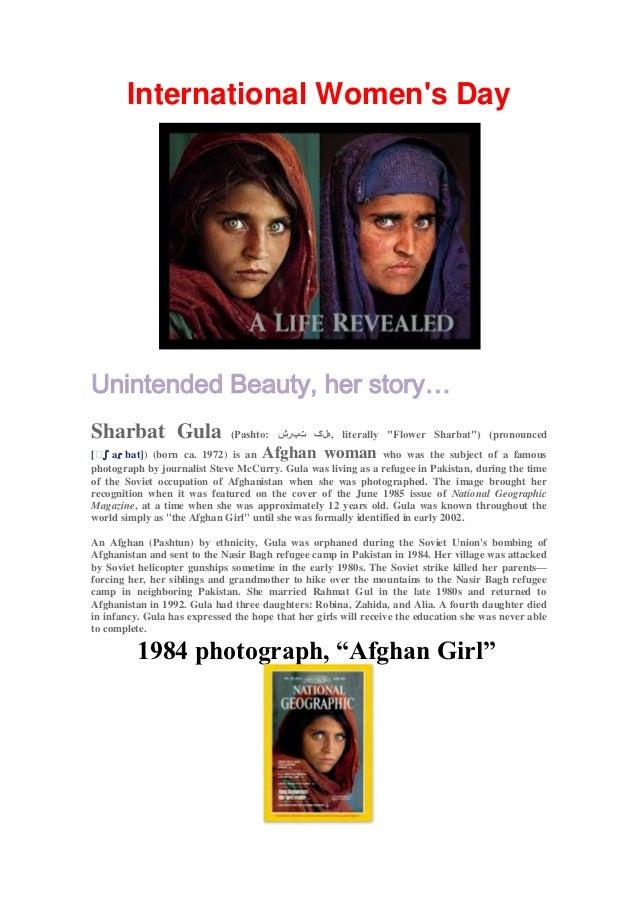 "International Womens DayUnintended Beauty, her story…Sharbat Gula                  (Pashto:  ,هلګ تبرشliterally ""Flower ..."