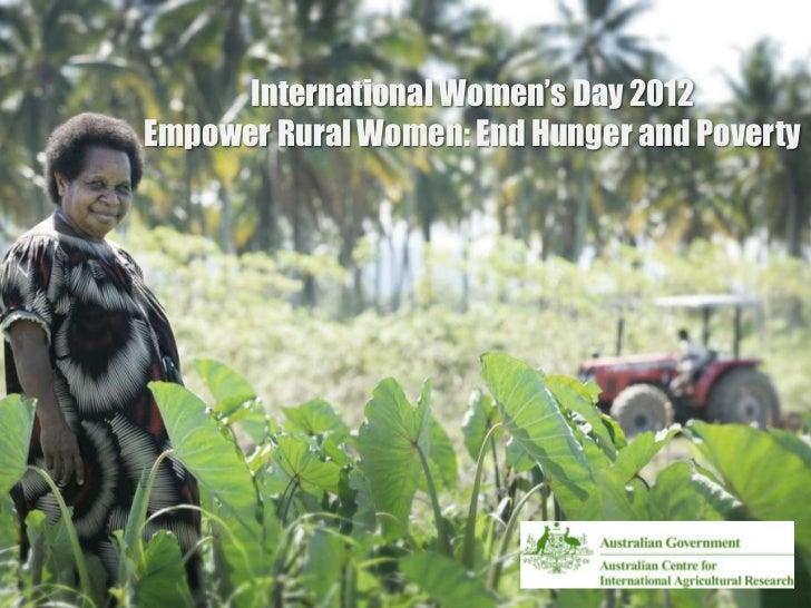 International women's day 2012