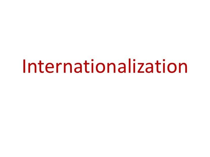 Internationlization
