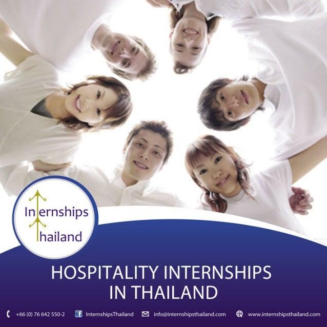 Hospitality Internships in Thailand