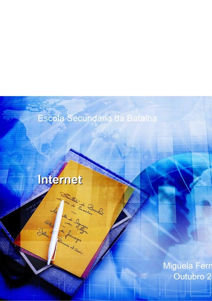 Internet: evolução e serviços
