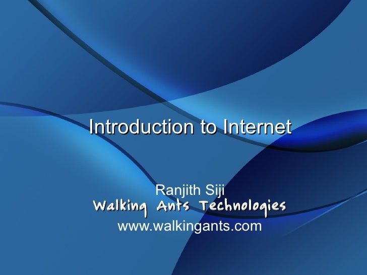 Introduction to Internet And Web