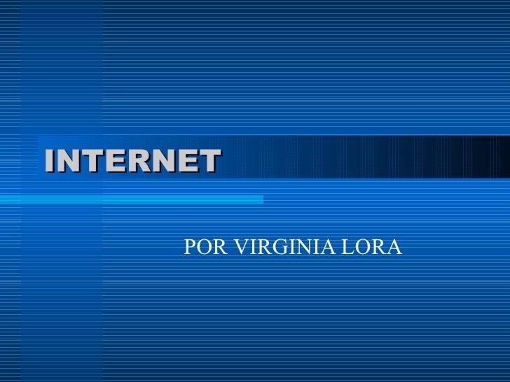 INTERNET POR VIRGINIA LORA