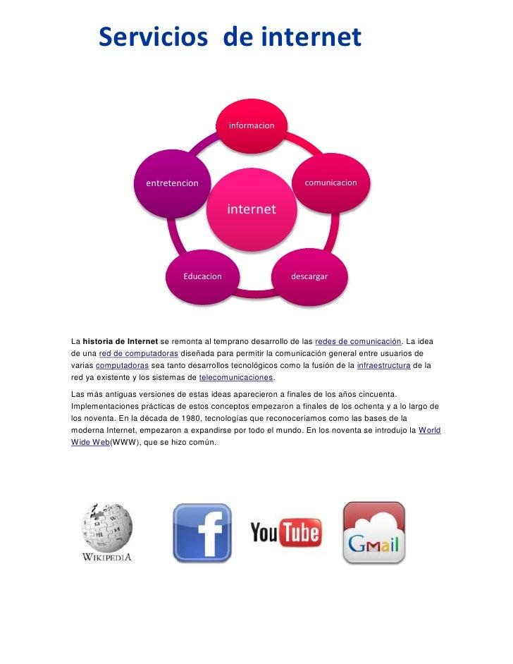 Servicios de internet                                          informacion                    entretencion                ...