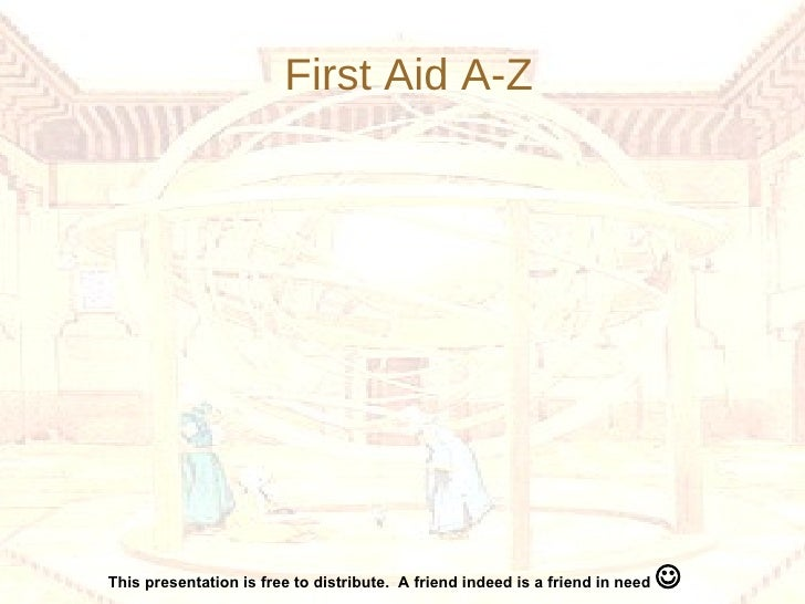First Aid A-Z