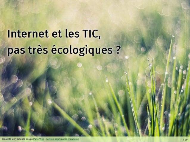 Internet et les TIC, pas très écologique ?
