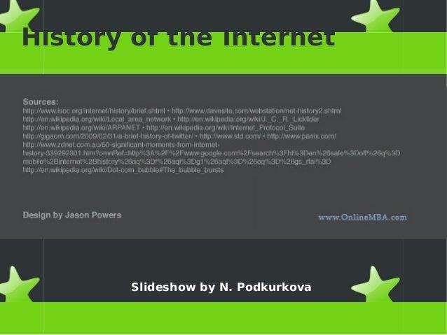 History of the Internet Slideshow by N. Podkurkova