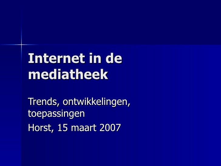 internet in de mediatheek