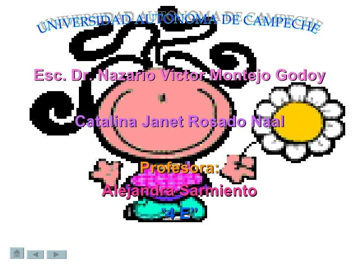 <ul><li>Esc. Dr. Nazario Víctor Montejo Godoy </li></ul><ul><li>Catalina Janet Rosado Naal </li></ul><ul><li>Profesora: </...
