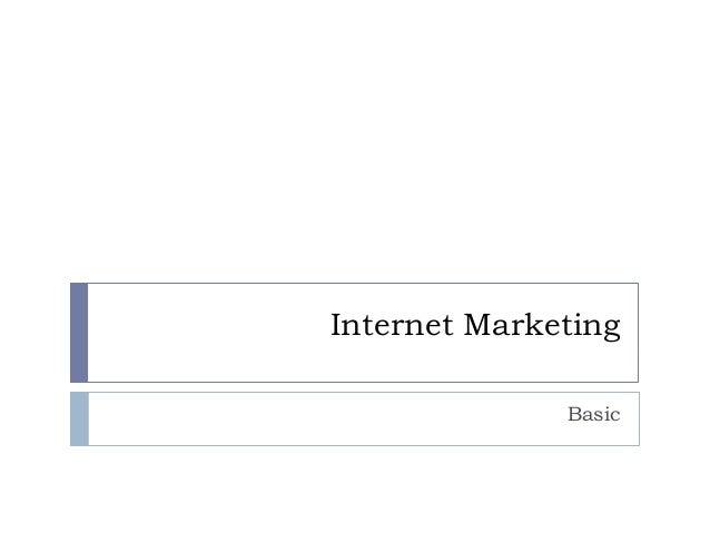 Internet Marketing Basic