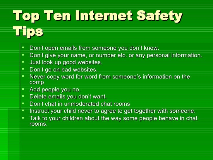 internet rules teen