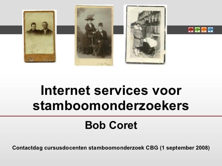 Internet Services Voor Stamboomonderzoekers Docenten