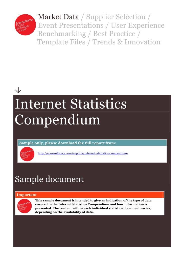 Internet Statistics Compendium
