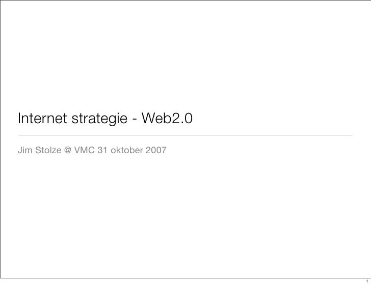 Internet strategie: web2.0
