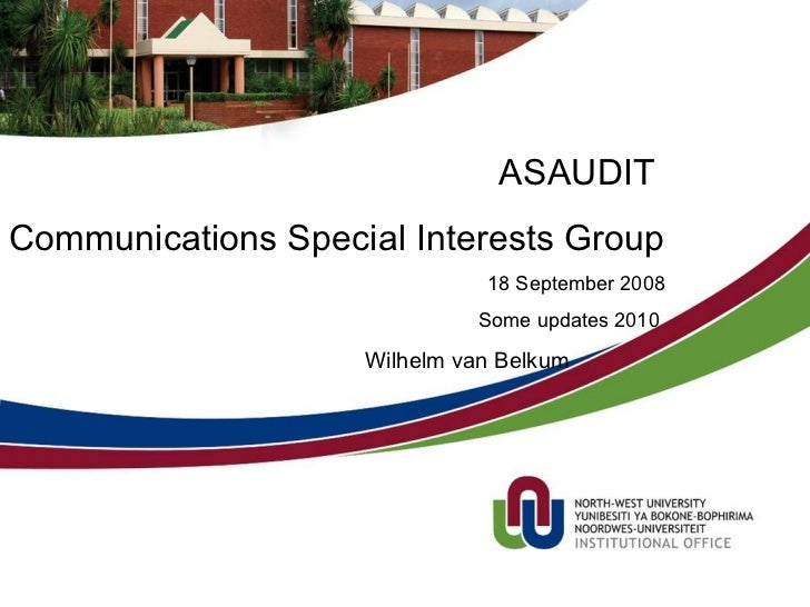 NWU and SA Telecoms