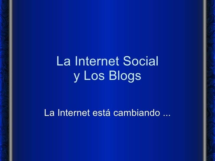 Internet y los Blogs
