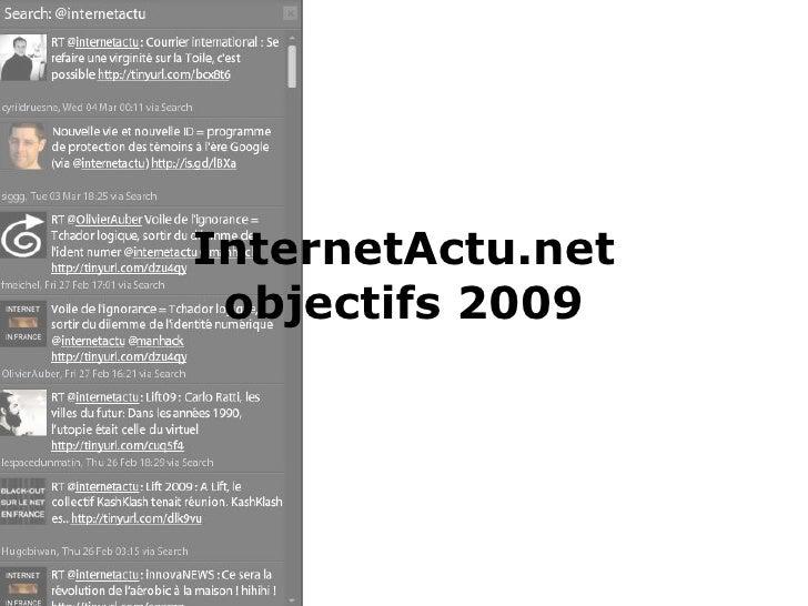 InternetActu.net objectifs 2009