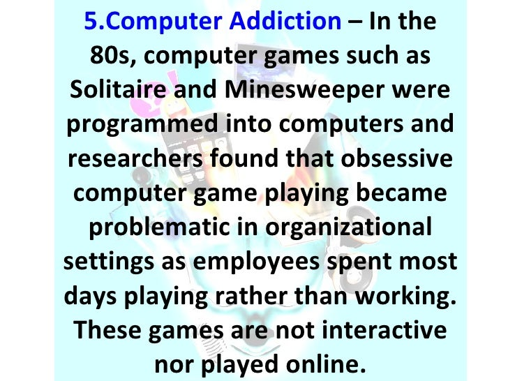 Computer Addiction Research Paper