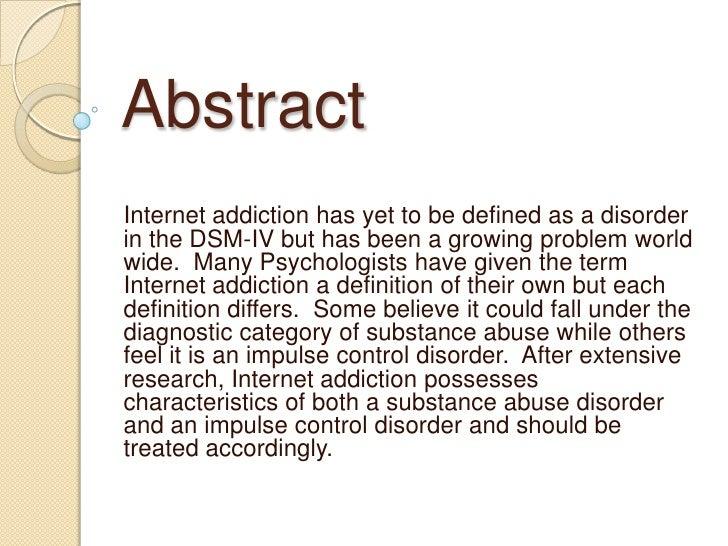 definition essay on addiction