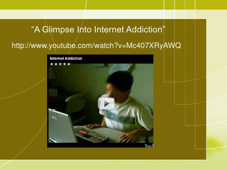 "internet addiction college essays Technology addiction  college essay examples and free essays are available now on  ""research has shown that internet addiction affects areas in the brain."
