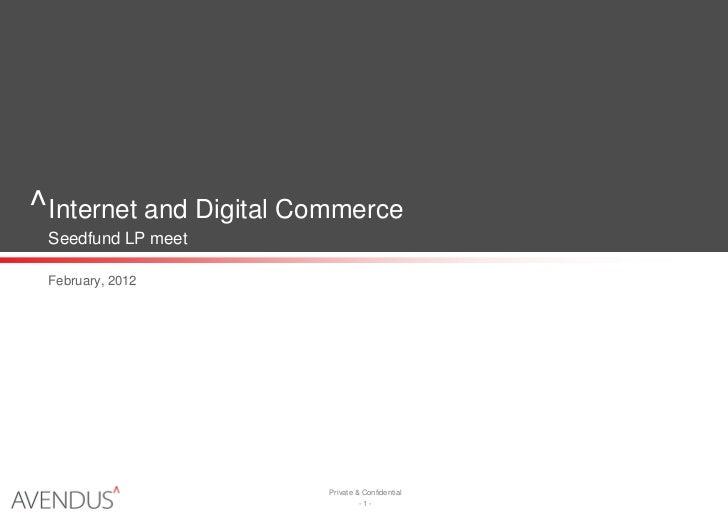 Internet and digital commerce avendus capital