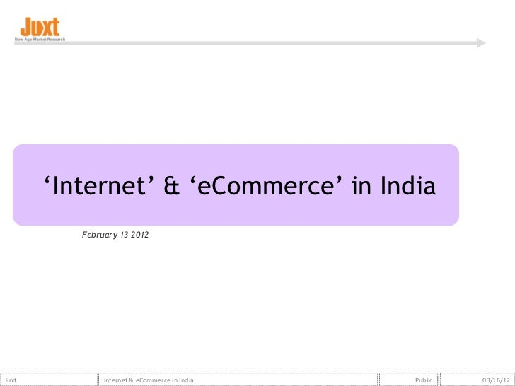 Internet and ecommerce in india