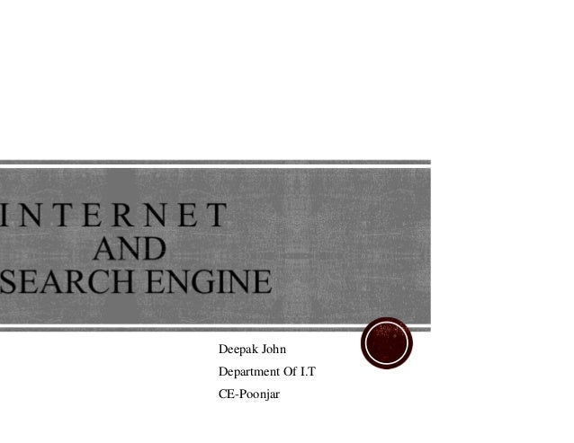 Internet and search engine