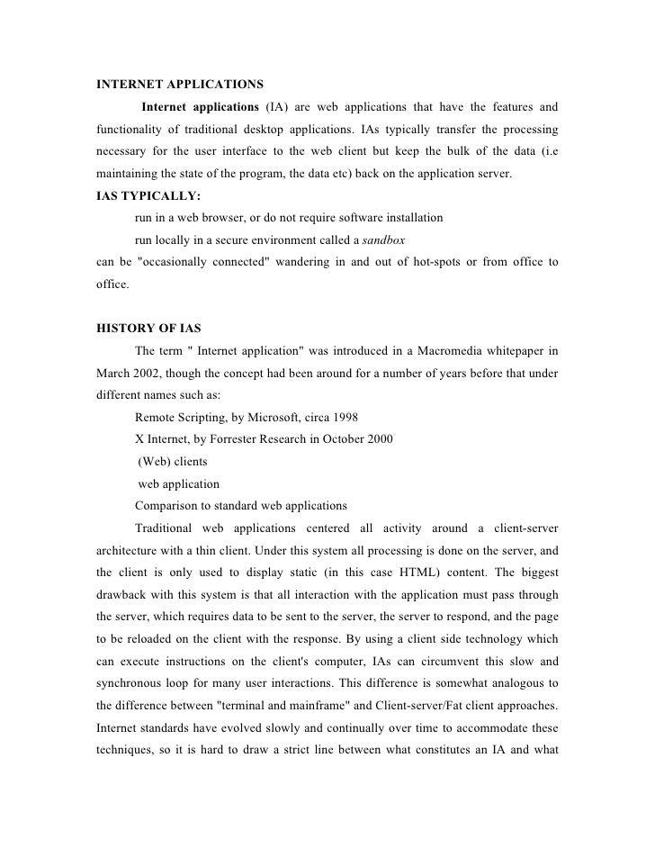Internet applications unit1