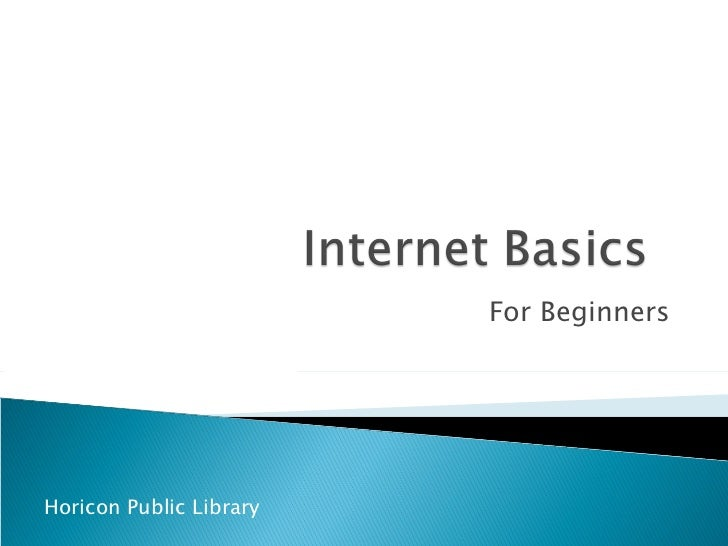 For Beginners Horicon Public Library