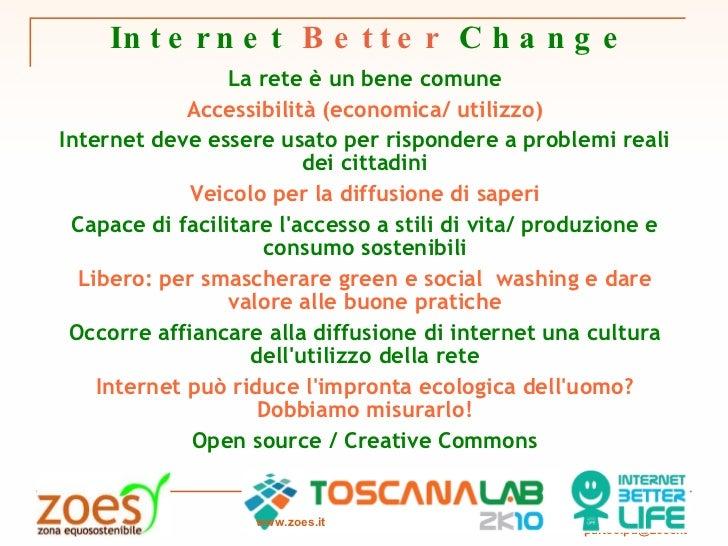 Internet Better Change - ToscanaLab Manifesto