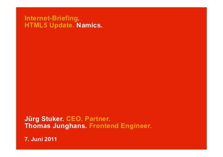 HTML5 Update (am Internet-Briefing)