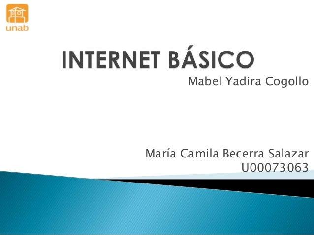 Mabel Yadira Cogollo María Camila Becerra Salazar U00073063