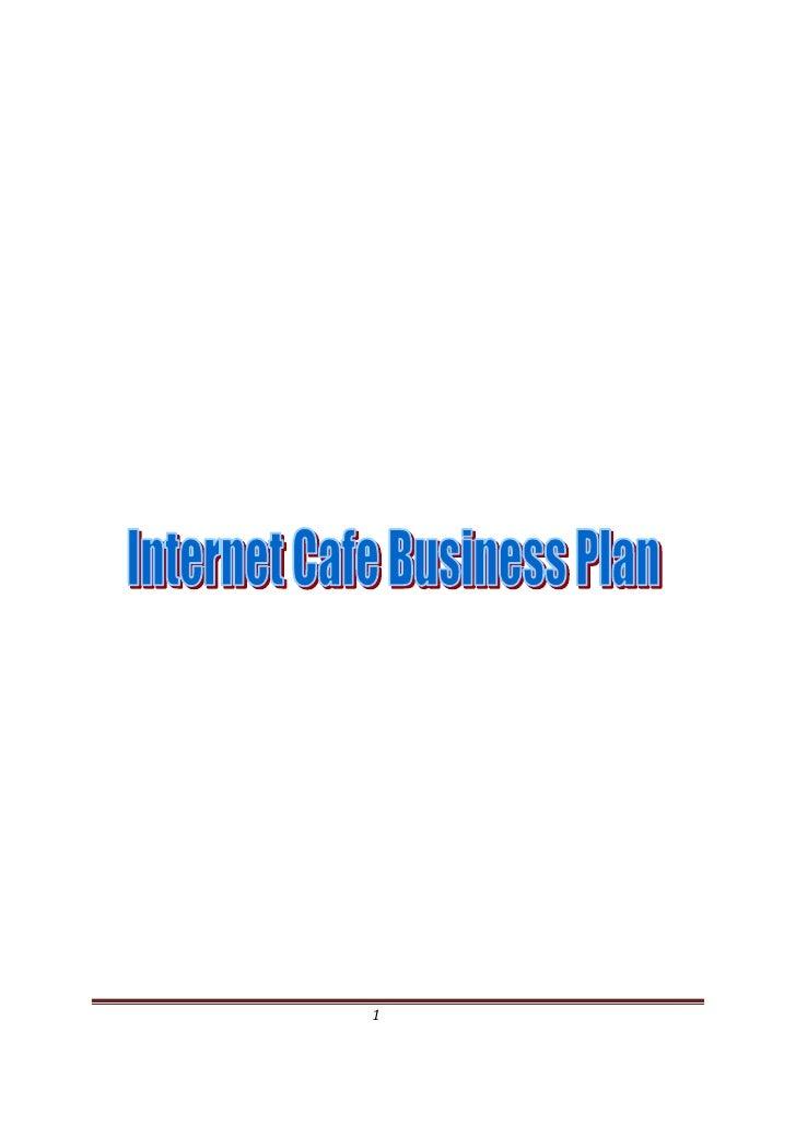 Starting internet cafe business plan