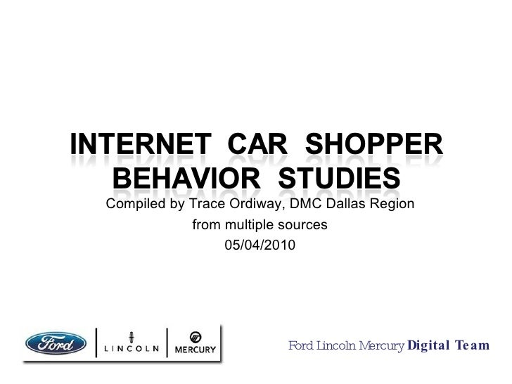 Internet Car Shopper Behavior