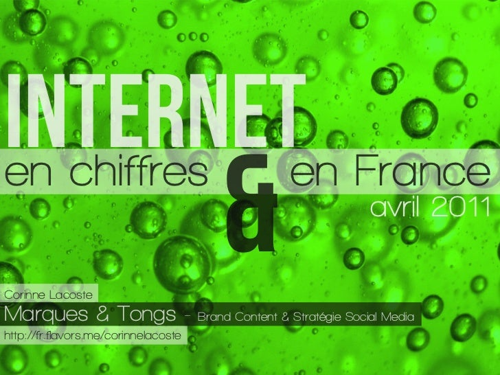 INTERNETen Franceen chiffresCorinne LacosteMarques & Tongs -                                          &                   ...