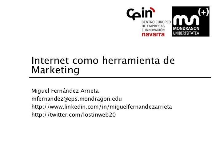 Internet como herramienta de marketing